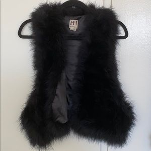 HAUTE HIPPIE MARIBU FEATHER VEST